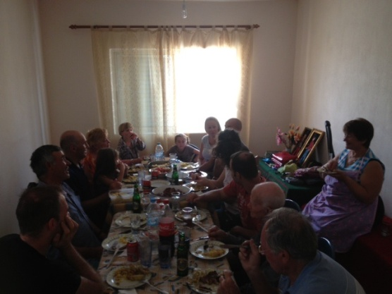 The dining room - a big family lunch