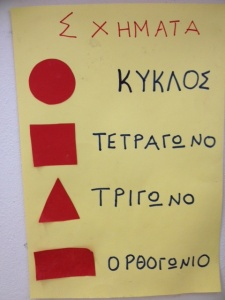 These are shapes with lots of Greek words