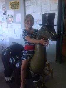 I'm a dinosaur rider