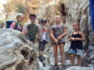 Kids enjoying yet another gorge