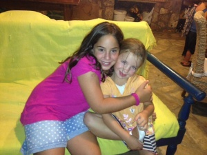 Renya's daughter Rafaela, does Zumba with our girls