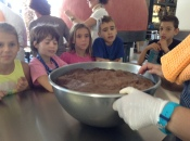 Mixing the yummy dough