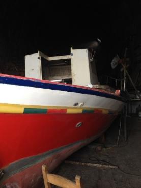 Mending a boat
