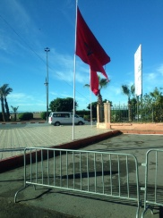 Moroccan flags are literally everywhere