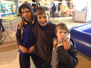 This is me and Toby and our friend Alex - we went to the Luna Park together and Alex had a sleep over
