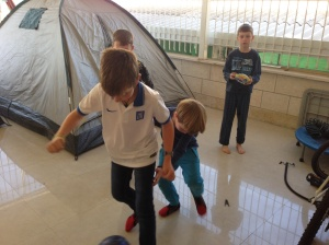 There was even room for tents on the front porch  and indoor soccer.