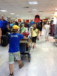 Heraklion airport is so busy in the summer so we had to get there early
