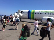 Transavia airlines - very low budget - even had to pay for a glass of water