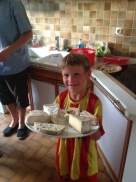 An incredible cheese platter - Yum!