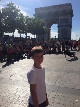Breakdancing near the Arc de Triumph
