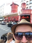 Baba wanted to walk past the Moulin Rouge