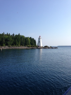 We saw some wrecks near this lighthouse