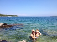 The Georgian bay water is so cold