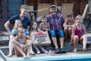 Pool party with Pizza
