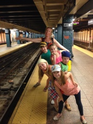 We caught underground trains